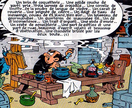 """Tiré de """"la schtroumpfette"""". Copyrights Société IMPS"""