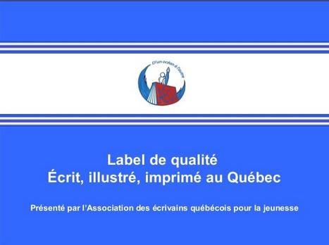 Label de qualité livres Québec